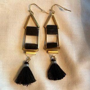 Boho Black Stone Dangle Earring